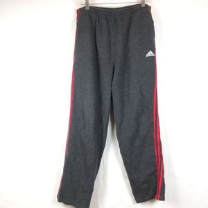 Adidas men's sweatpants gray/ red size XL
